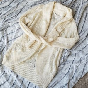 Lauren Conrad Cream Lacy Sweater